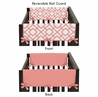 Baby Crib Side Rail Guard Covers for Coral and White Diamond Collection by Sweet Jojo Designs - Set of 2
