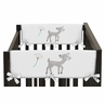 Baby Crib Side Rail Guard Covers for Forest Deer and Dandelion Collection by Sweet Jojo Designs - Set of 2
