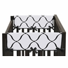 Baby Crib Side Rail Guard Covers for Purple, Black and White Princess Collection by Sweet Jojo Designs - Set of 2