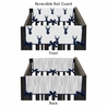Baby Crib Side Rail Guard Covers for Navy and White Woodland Deer Collection by Sweet Jojo Designs - Set of 2