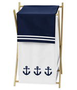 Baby/Kids Clothes Laundry Hamper for Anchors Away Nautical Bedding