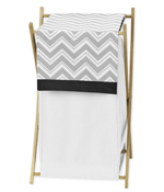 Baby/Kids Clothes Laundry Hamper for Black and Gray Chevron Zig Zag Bedding by Sweet Jojo Designs