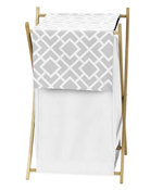 Baby/Kids Clothes Laundry Hamper for Gray and White Diamond Bedding by Sweet Jojo Designs