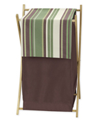 Baby Kids Clothes Laundry Hamper for Green and Brown Ethan Modern Bedding