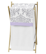 Baby/Kids Clothes Laundry Hamper for Lavender and Gray Elizabeth Bedding by Sweet Jojo Designs