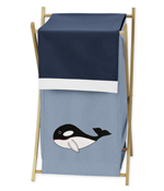 Baby/Kids Clothes Laundry Hamper for Ocean Blue Sea Life Bedding