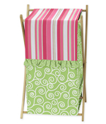 Baby/Kids Clothes Laundry Hamper for Olivia Pink and Green Bedding