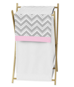 Baby/Kids Clothes Laundry Hamper for Pink and Gray Chevron Zig Zag Bedding by Sweet Jojo Designs