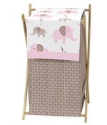 Baby/Kids Clothes Laundry Hamper for Pink and Taupe Mod Elephant Bedding by Sweet Jojo Designs