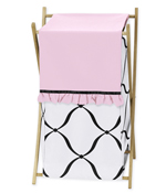 Baby/Kids Clothes Laundry Hamper for Pink, Black and White Princess Bedding