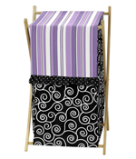 Baby/Kids Clothes Laundry Hamper for Purple and Black Kaylee Bedding by Sweet Jojo Designs