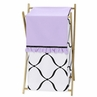 Baby/Kids Clothes Laundry Hamper for Purple, Black and White Princess Bedding