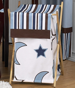 Baby/Kids Clothes Laundry Hamper for Starry Night Stars and Moons Bedding
