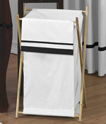 Baby/Kids Clothes Laundry Hamper for White and Black Hotel Bedding by Sweet Jojo Designs