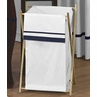 Baby/Kids Clothes Laundry Hamper for White and Navy Hotel Bedding by Sweet Jojo Designs
