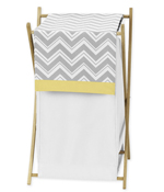 Baby/Kids Clothes Laundry Hamper for Yellow and Gray Chevron Zig Zag Bedding by Sweet Jojo Designs