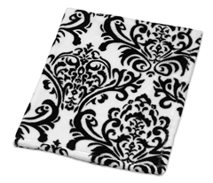 Baby Plush Blanket for  Black and White Isabella Collection by Sweet Jojo Designs