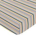 Fitted Crib Sheet for Robot Baby/Toddler Bedding by Sweet Jojo Designs - Stripe Print