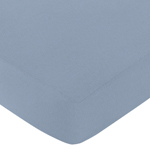 Fitted Crib Sheet for Robot Baby/Toddler Bedding by Sweet Jojo Designs - Light Blue