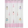Ballet Dancer Ballerina Kids Bathroom Fabric Bath Shower Curtain