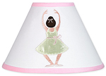 Ballet Dancer Ballerina Lamp Shade by Sweet Jojo Designs
