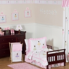 Ballet Dancer Ballerina Toddler Bedding - 5 pc Set