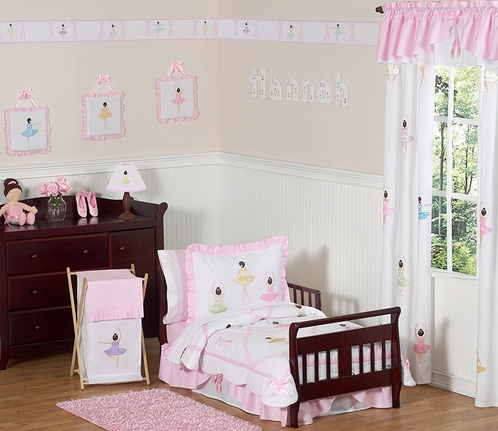 Ballet Dancer Ballerina Toddler Bedding - 5 pc Set - Click to enlarge