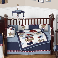 Balloon Buddies Animal Baby Bedding - 9 pc Crib Set by Sweet Jojo Designs