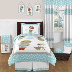Balloon Buddies Chevron 3pc Full / Queen Bedding Set by Sweet Jojo Designs