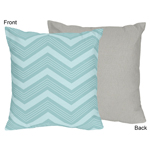 Balloon Buddies Chevron Decorative Accent Throw Pillow by Sweet Jojo Designs