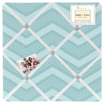 Balloon Buddies Chevron Fabric Memory/Memo Photo Bulletin Board