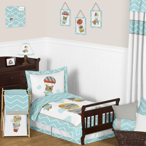 Balloon Buddies Chevron Toddler Bedding - 5pc Set by Swee...