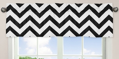Black and White Chevron Collection Zig Zag Window Valance