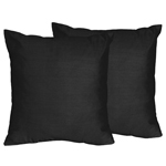 Black Decorative Accent Throw Pillows for Chevron Collection - Set of 2