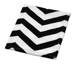 Black and White Chevron Plush Fleece Baby Crib Blanket by Sweet Jojo Designs