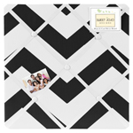 Black and White Chevron Zig Zag Fabric Memory/Memo Photo Bulletin Board