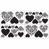 Black and White Damask Sloane Baby, Childrens and Kids Wall Decal Stickers - Set of 4 Sheets