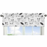 Black and White Fox Collection Window Valance by Sweet Jojo Designs