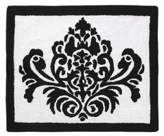 Black and White Isabella Accent Floor Rug