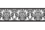 Black and White Isabella Baby and Kids Wall Border by Swe...