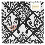 Black and White Isabella Fabric Memory/Memo Photo Bulletin Board