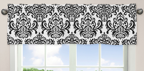 Black and White Isabella Girls Window Valance by Sweet Jo...