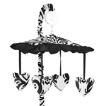 Black and White Isabella Musical Baby Crib Mobile by Sweet Jojo Designs