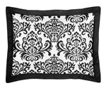 Black and White Isabella Pillow Sham by Sweet Jojo Designs