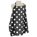 Black and White Polka Dot Infant Baby Breastfeeding Nursing Cover Up Apron by Sweet Jojo Designs