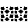 Black and White Trellis Childrens and Kids Wall Decal Stickers - Set of 4 Sheets
