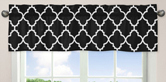 Black and White Trellis Collection Window Valance by Sweet Jojo Designs