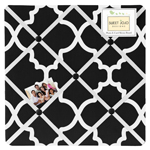 Black and White Trellis Fabric Memory/Memo Photo Bulletin Board