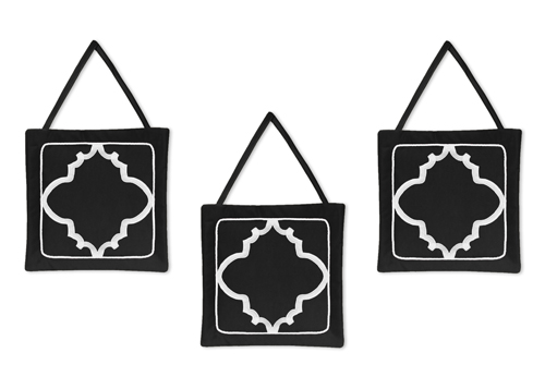 Black and White Trellis Wall Hanging Accessories by Sweet...