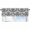 Black Damask Window Valance for Pink and Black Sophia Collection by Sweet Jojo Designs